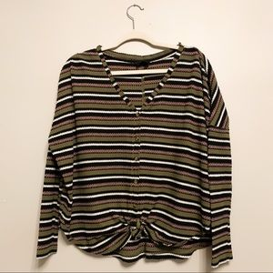 Out From Under Urban Outfitters Stripe Blouse XL